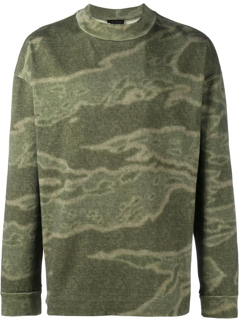 lyst yeezy season 3 moto sweatshirt in green for men. Black Bedroom Furniture Sets. Home Design Ideas