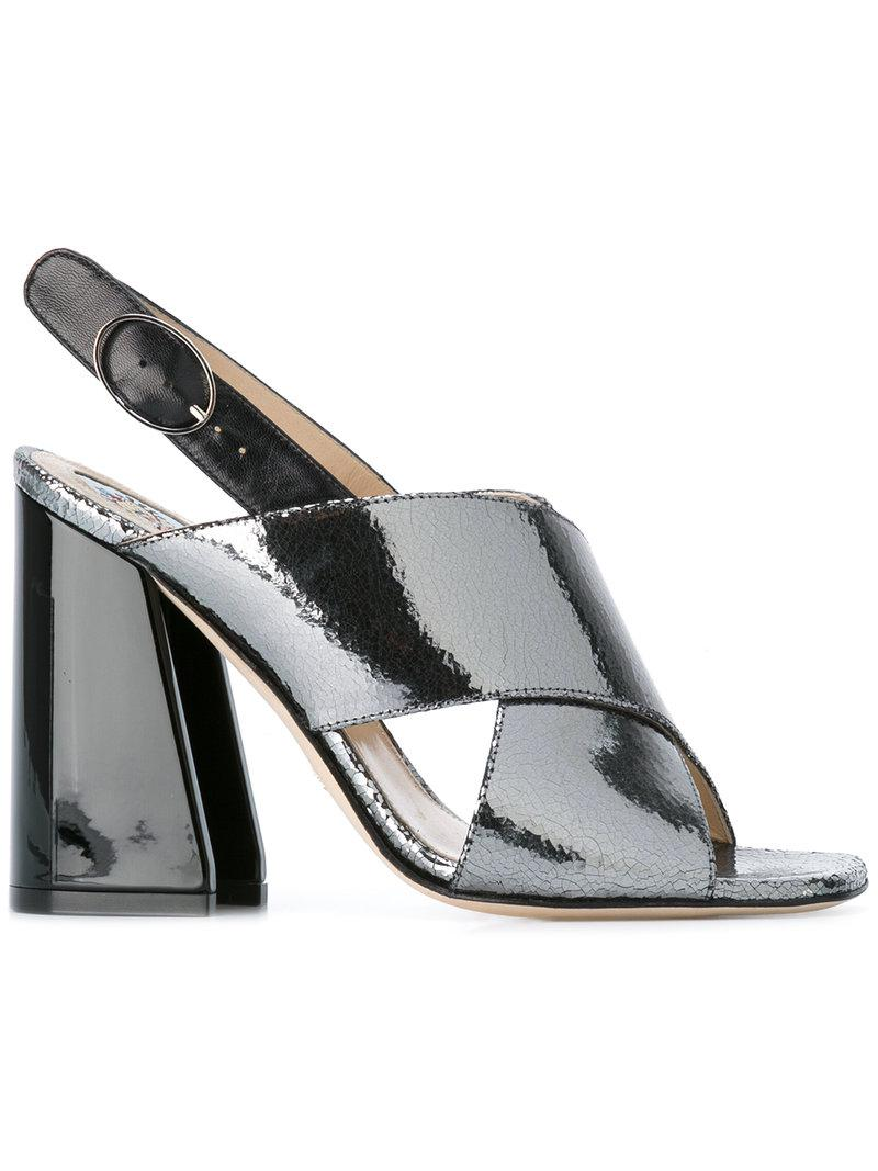 chunky heel sandals - Black Paula Cademartori
