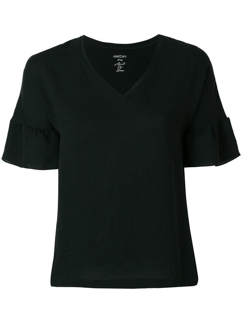 Marc Cain ruffle sleeved T-shirt Outlet Cheap Price R4MQ8NFS