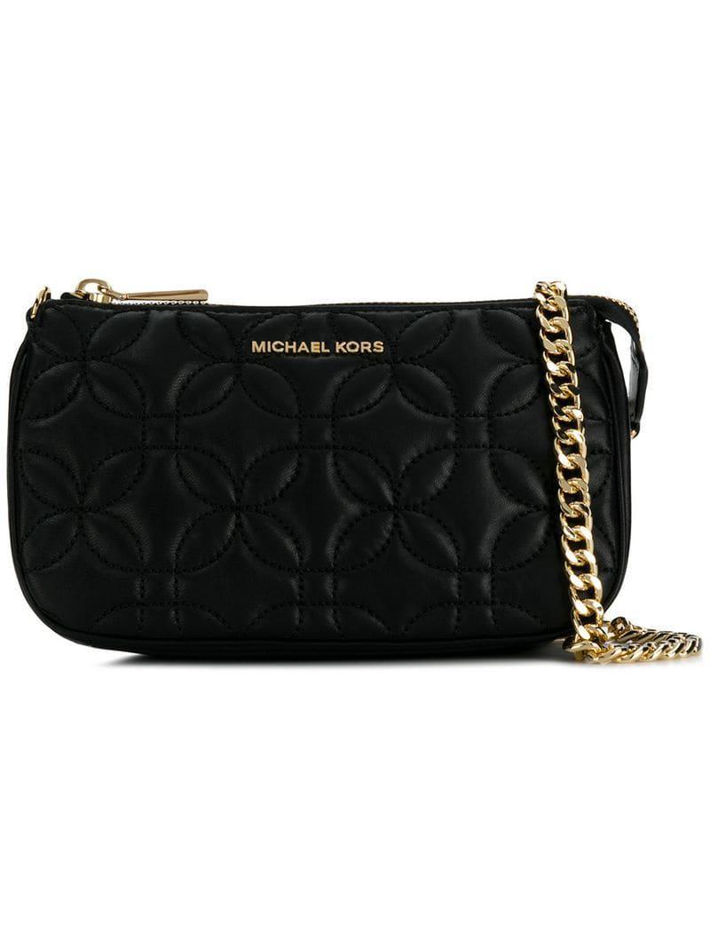 2dd05b271148f4 MICHAEL Michael Kors Md Chain Clutch Bag in Black - Lyst