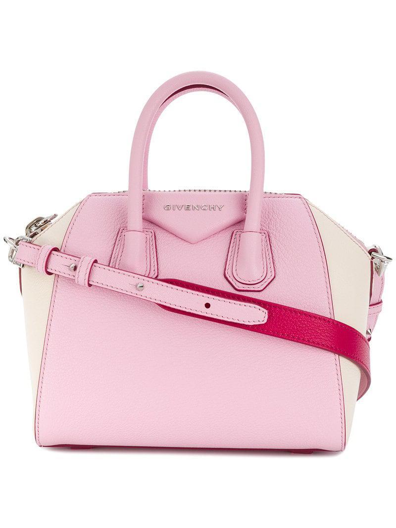 db85df985c Givenchy - Pink Mini Antigona Tote - Lyst. View fullscreen