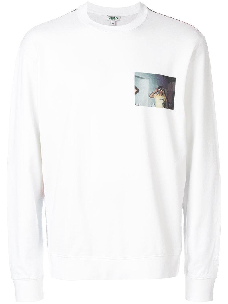 22e03044bc Lyst - KENZO Old Photograph Sweatshirt in White for Men