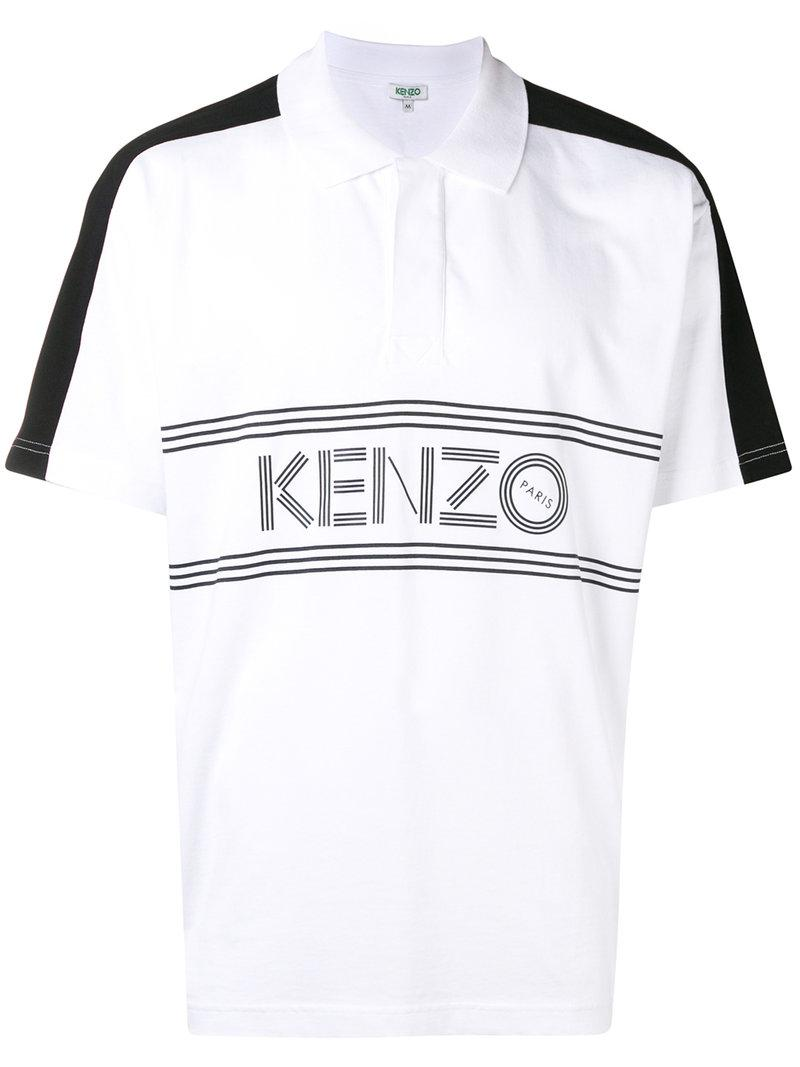 7be0a515 KENZO Front-logo Polo Shirt in White for Men - Lyst