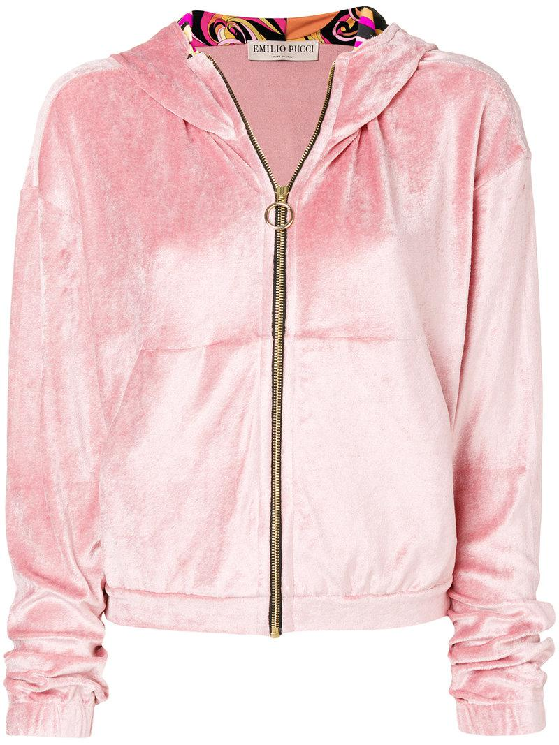 Cheapest Price Online Emilio Pucci plush zipped hoodie Free Shipping Sale Clearance Inexpensive Sale Affordable Cheap Price Store A0HSXs