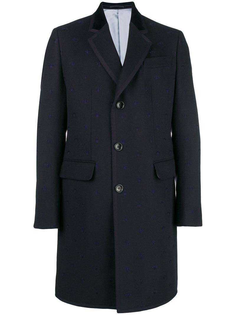 f4e6afd39c1f Gucci Bound Collar Coat in Blue for Men - Lyst