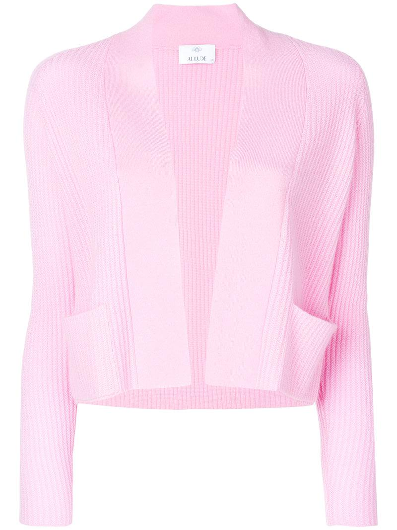 For Sale Cheap Online Buy Cheap Geniue Stockist ribbed cardigan - Pink & Purple Allude Best Online Ms9S6r