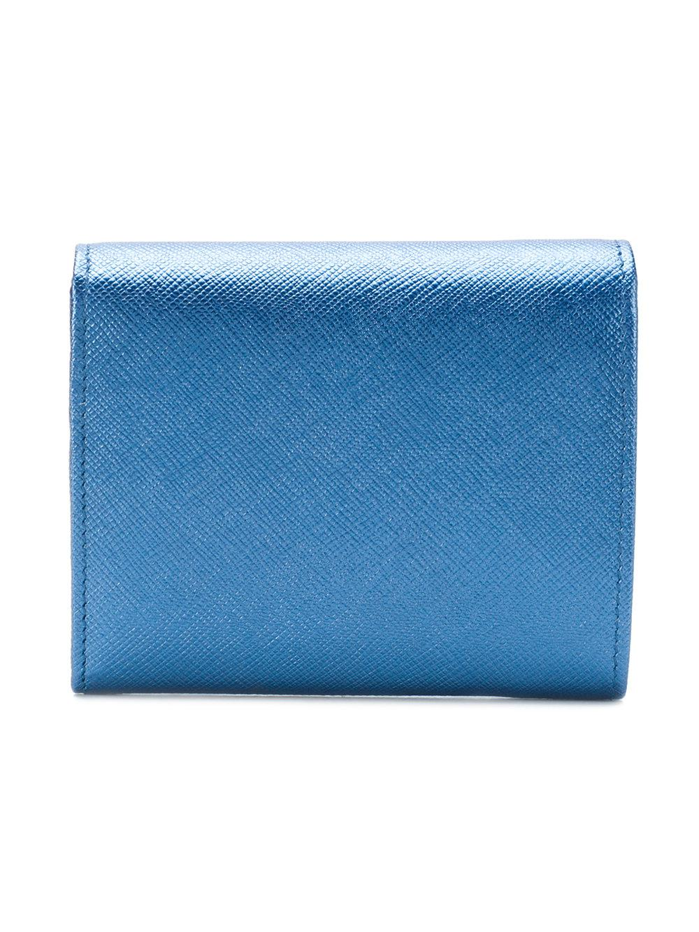 844934e39 Flap Cartera Logo En Mini Prada Lyst Azul Oq0BvfFw