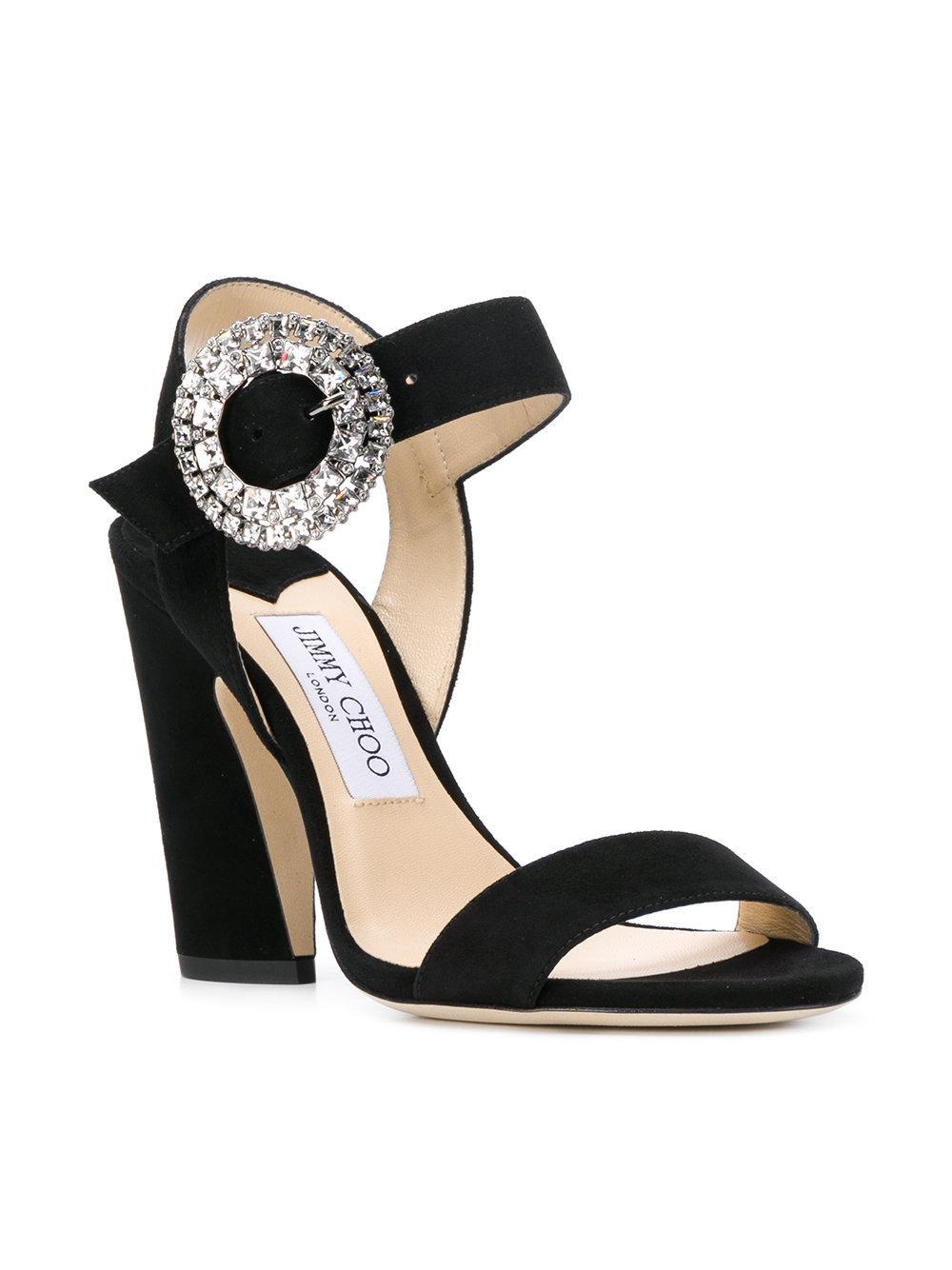 1ec0ca2ea5 Jimmy Choo Mischa 100 Sandals in Black - Lyst