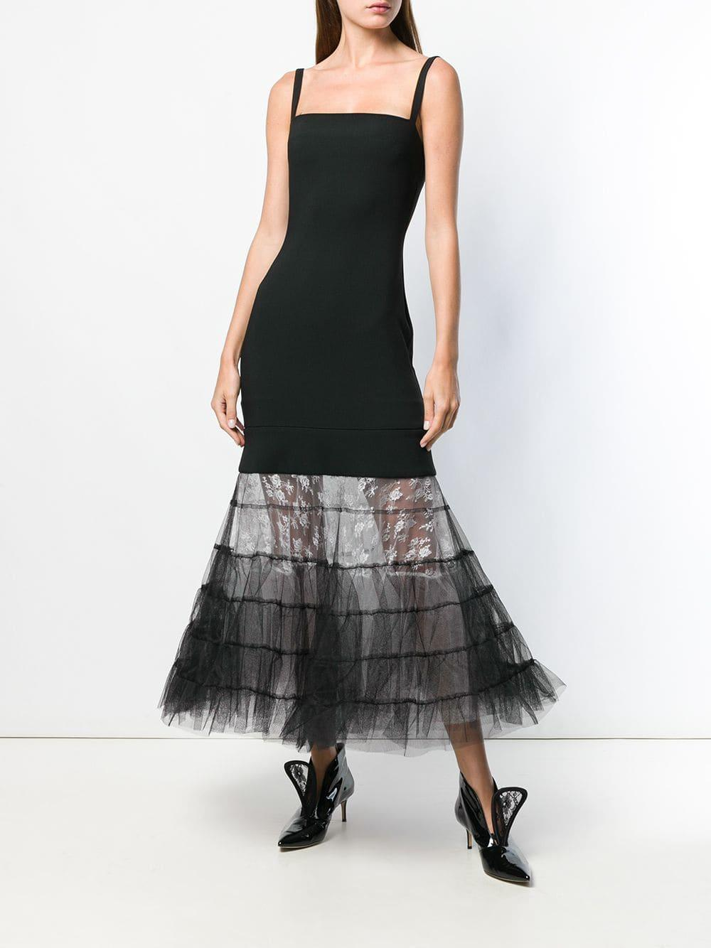 ff25d8dd Lyst - Christopher Kane Bodycon Multi Tulle Dress in Black