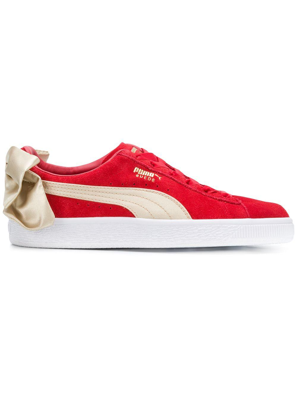 f20e8eb9503175 Lyst - Puma Suede Bow Varsity in Red