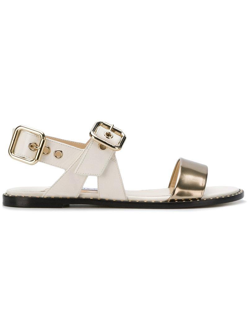 acc8e3c3c7d0 Jimmy Choo Astrid Flat Sandals in White - Lyst