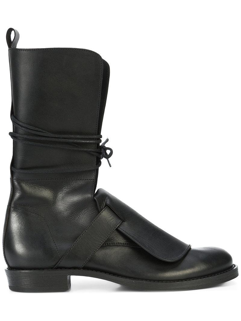 lace-up mid-calf boots - Black Ann Demeulemeester KP68Cwn