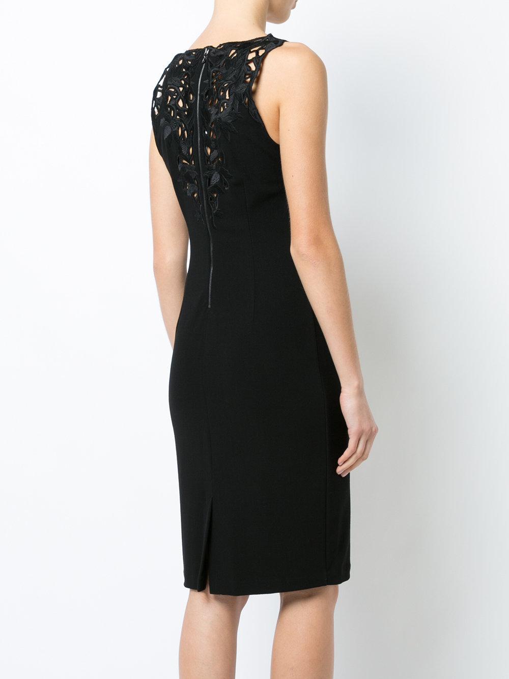 embroidered sheath dress - Black Natori kwQY3AfBGx