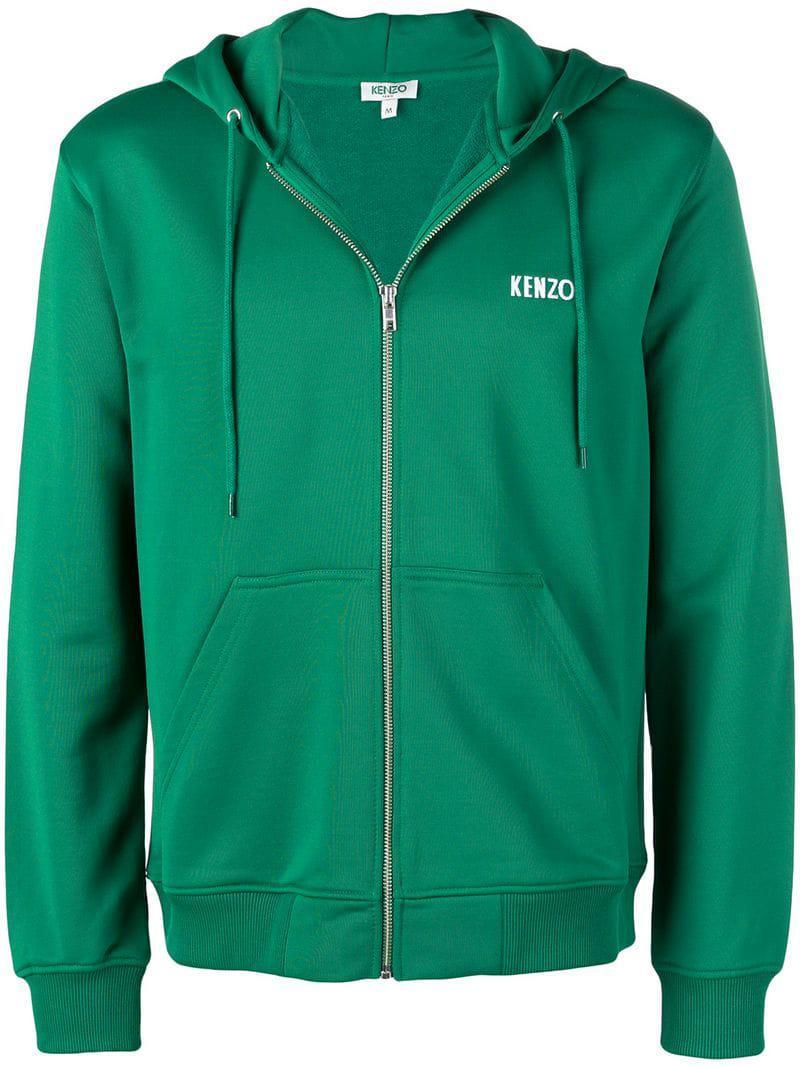 8f47dc9c2cd1 Lyst - KENZO Dragon Patch Full-zip Hoodie in Green for Men