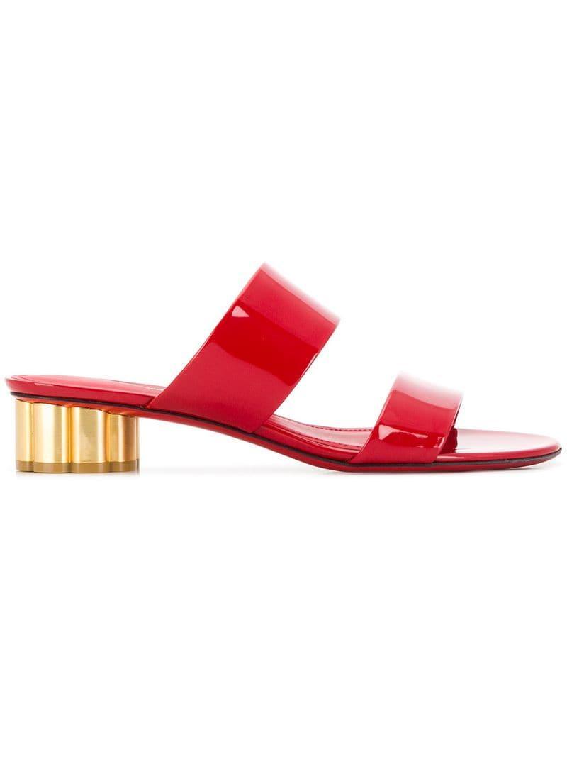 0a4953f49e60 Ferragamo. Women s Red Flower Heel Sandals