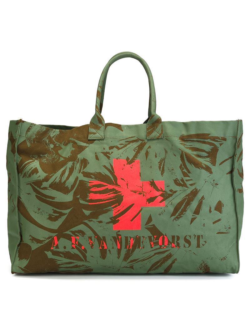 We Can Dance beach bag - Green A.F.Vandevorst sCB2VJOf