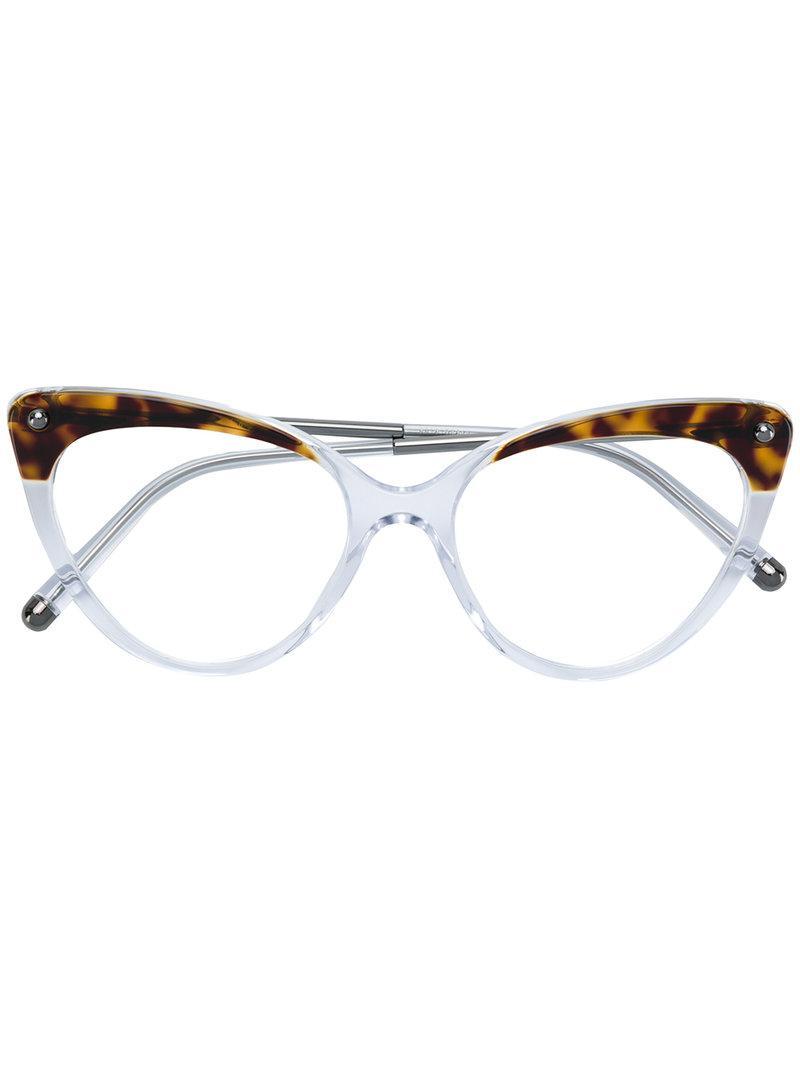 c573dcd9de Dolce   Gabbana Tortoiseshell Cat-eye Glasses in White - Lyst