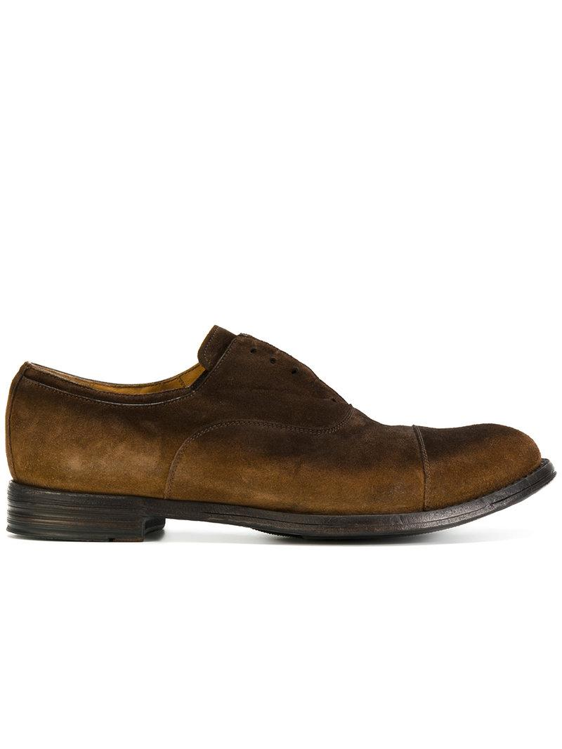 Lyst Officine Creative Laceless Oxford Shoes In Brown