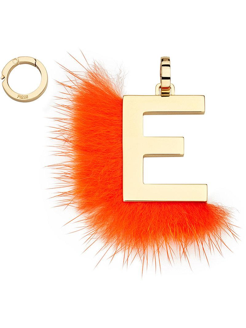 Fendi ABClick E pendant charm - Yellow & Orange rWFTac