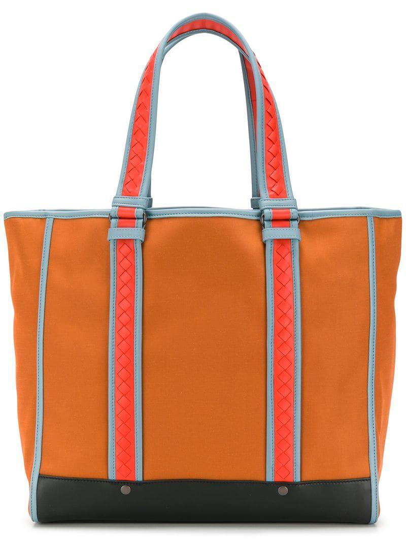 a043f0bba7 Sac cabas Meridian Bottega Veneta pour homme en coloris Orange - Lyst