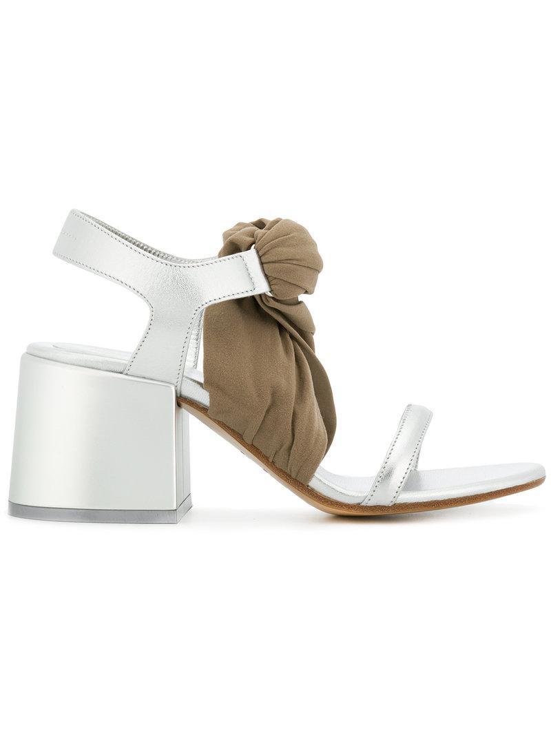 Stocking block heel sandals - Metallic Maison Martin Margiela L8GRS8y6