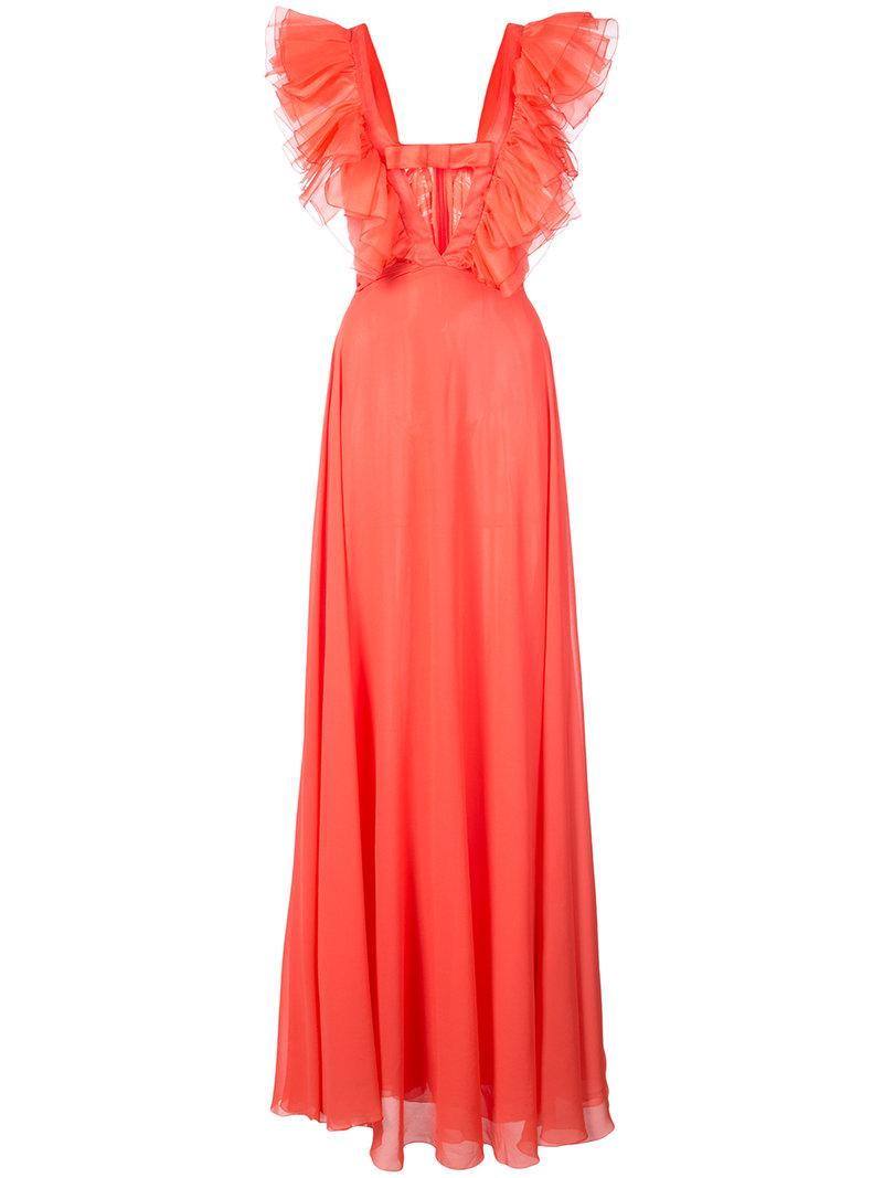deep V-neck gown - Pink & Purple Giambattista Valli Pay With Paypal Sale Online Buy Cheap Wholesale Price fIX7riIyt1