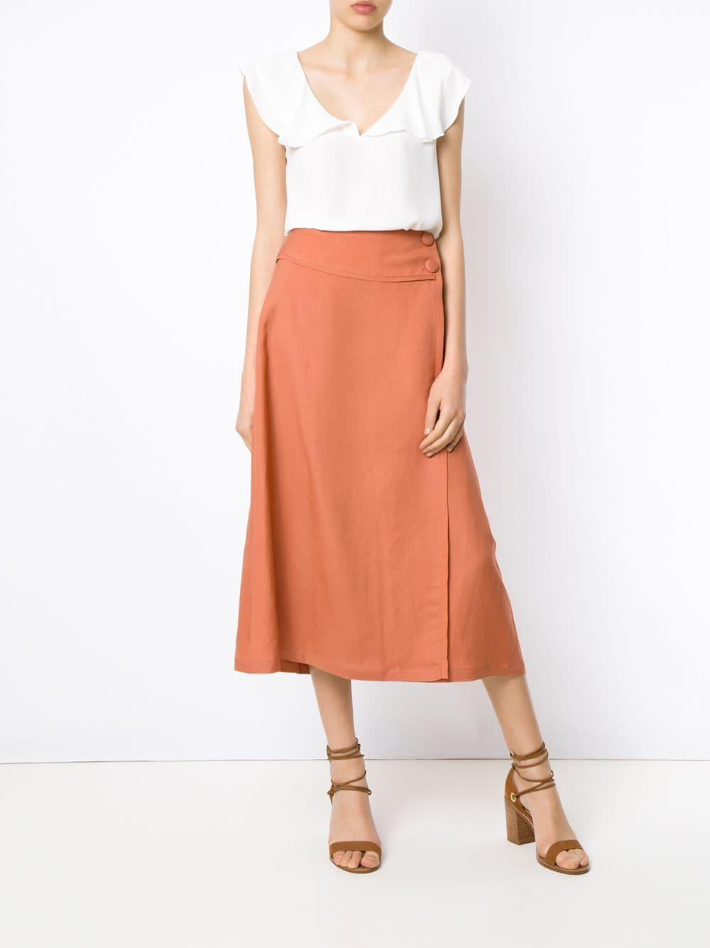 b756a2c47 Lyst - Adriana Degreas Midi Skirt in Yellow