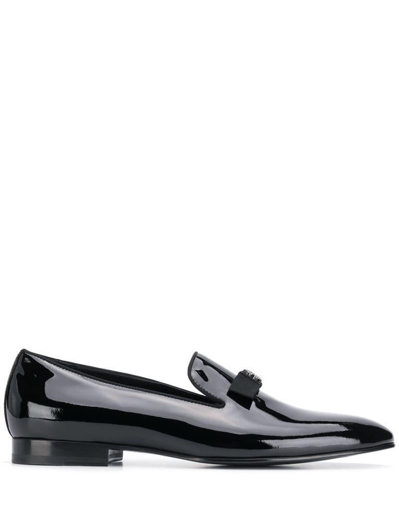 1cea1f1da13 Lyst - Roberto Cavalli Logo Plaque Loafers in Black for Men - Save 15%