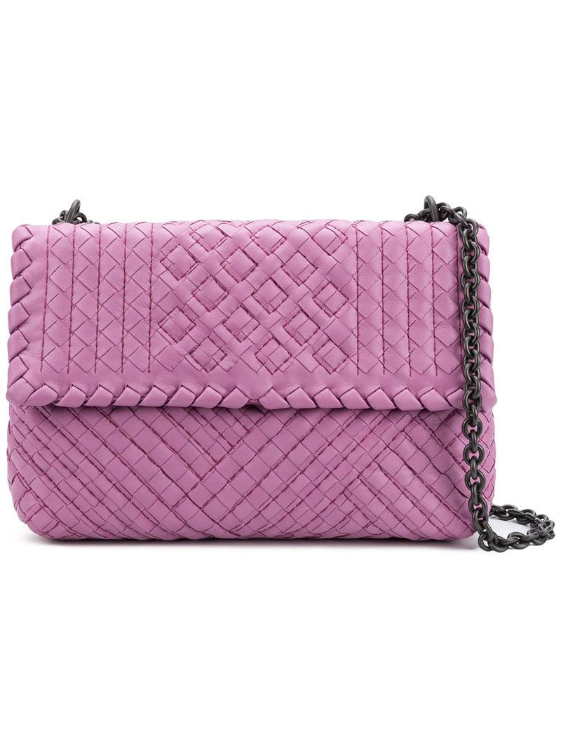 flap shoulder bag - Pink & Purple Bottega Veneta Discount Explore Free Shipping Enjoy Clearance Fashion Style Lowest Price Largest Supplier Online Ec6HPbWKZm