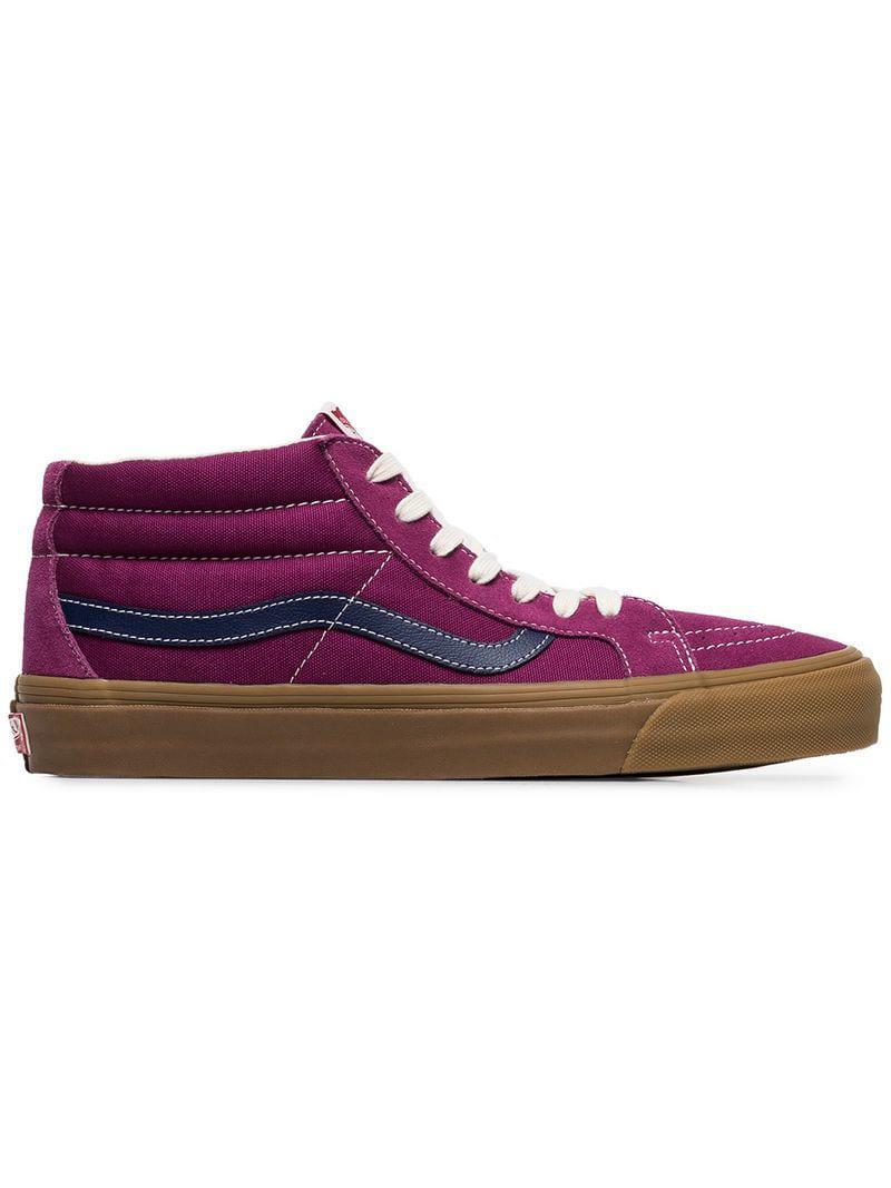 e9a00c3129f Vans Vault Sk8 Mid Lx Purple Suede Skater Shoes in Purple for Men - Lyst