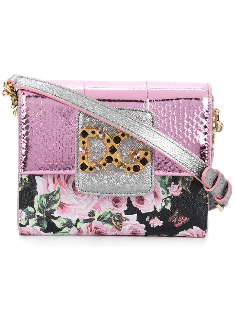 Millenials Gabbana Dg floral Dolce bandolera Bolso XwTRST