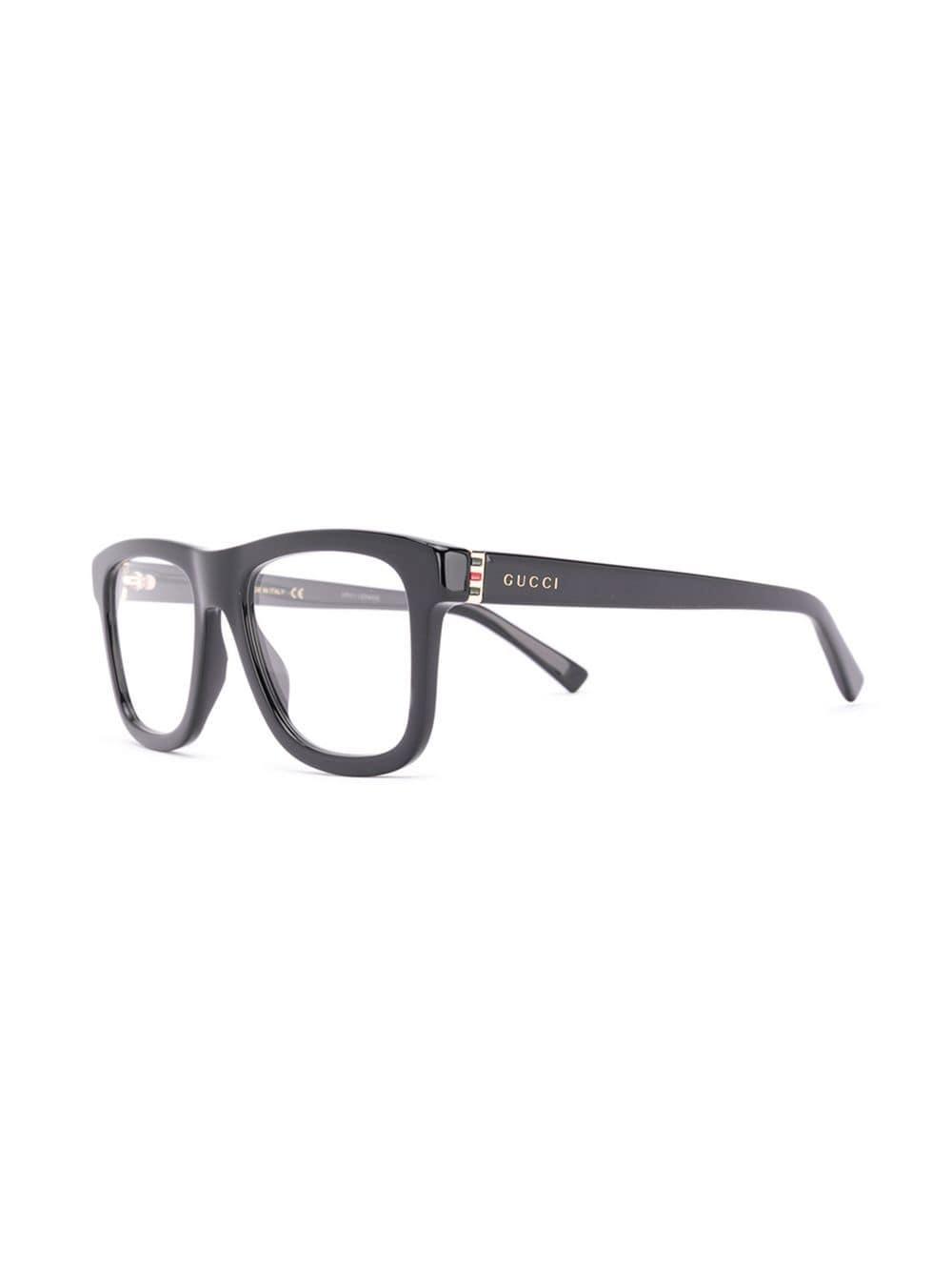2f114208545 Lyst - Gucci Rectangular Frame Glasses in Black for Men
