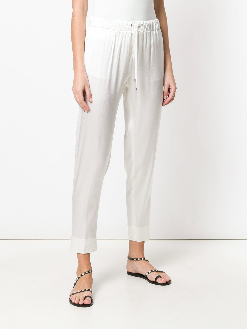 flared cropped trousers - White Fabiana Filippi Cheap Real New For Sale Cheap Sale Cheapest N8Y8AaXIO