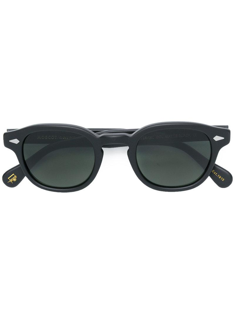 274b6a25949 Moscot Lemtosh Round Sunglasses in Black - Lyst