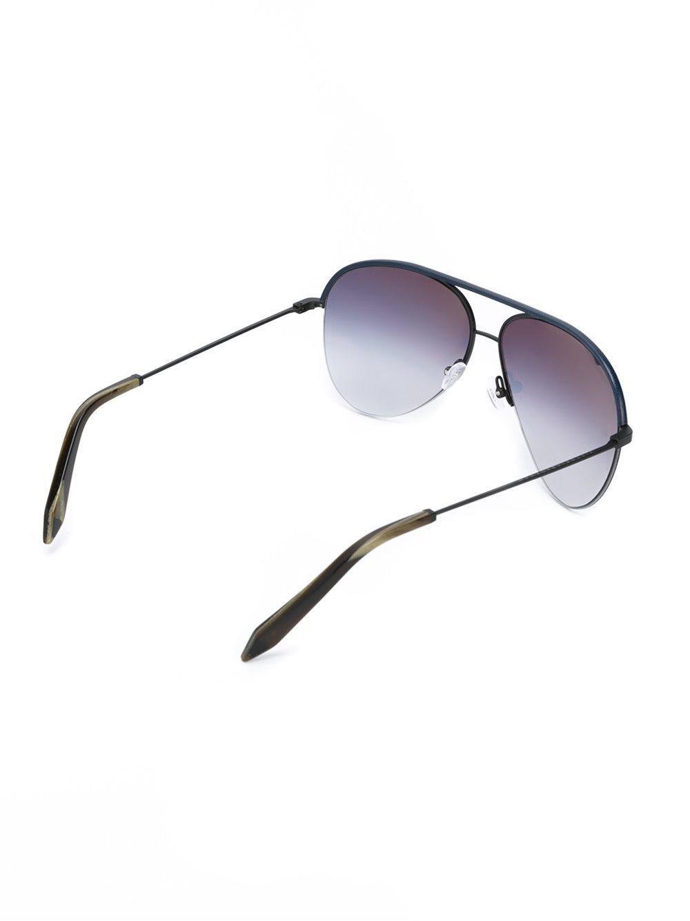 1db7334671 Victoria Beckham Aviator Frame Sunglasses in Blue - Lyst