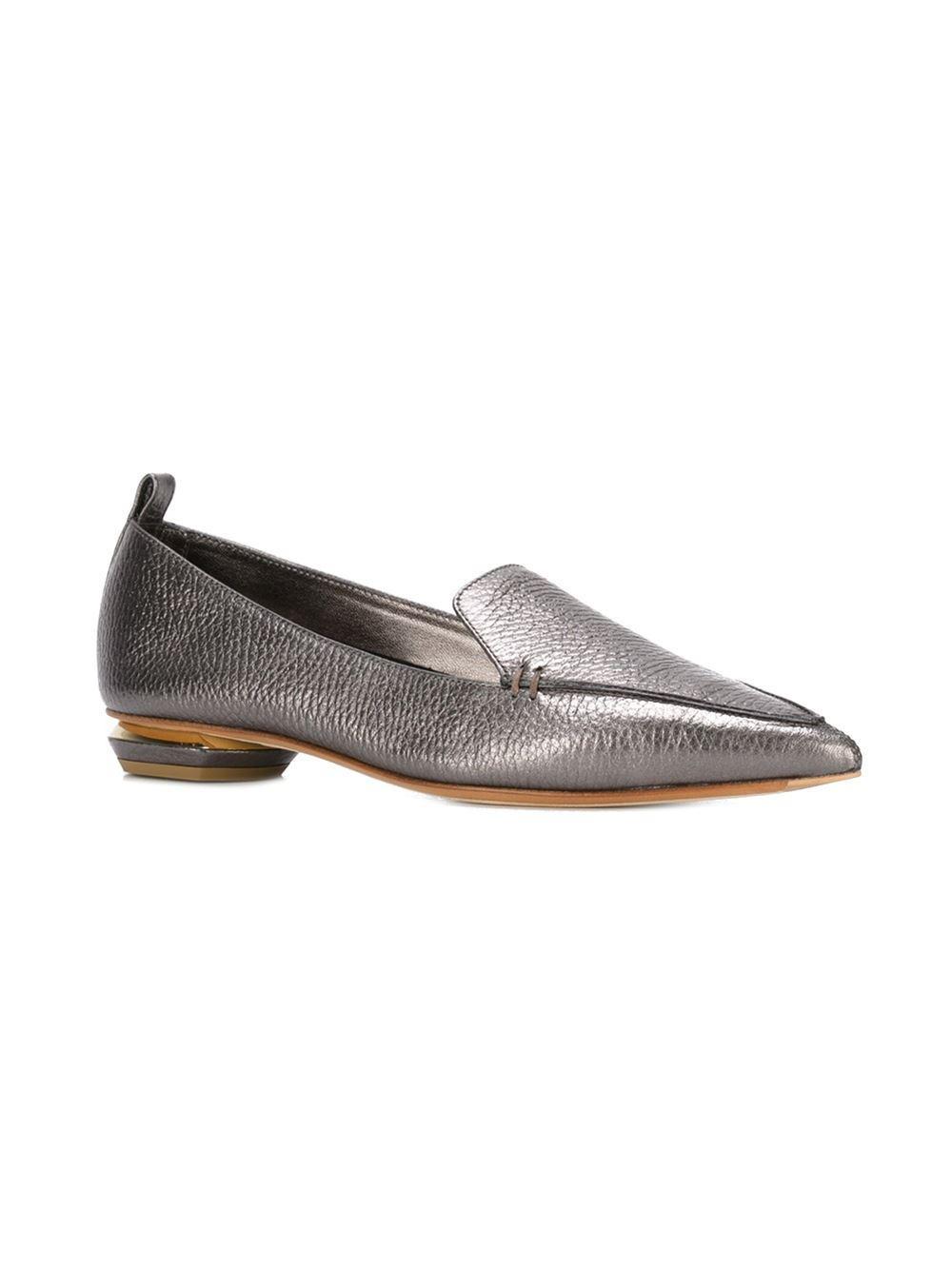 0cd2e3b8983 Nicholas Kirkwood - Purple Beya Metallic-Leather Loafers - Lyst. View  fullscreen