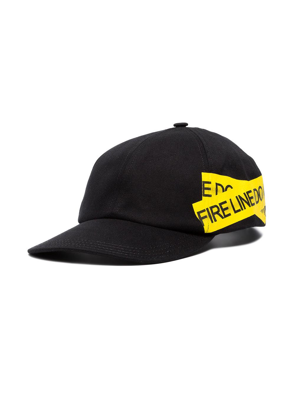 1991327351593f Off-White c/o Virgil Abloh Fire Tape Baseball Cap in Black for Men ...