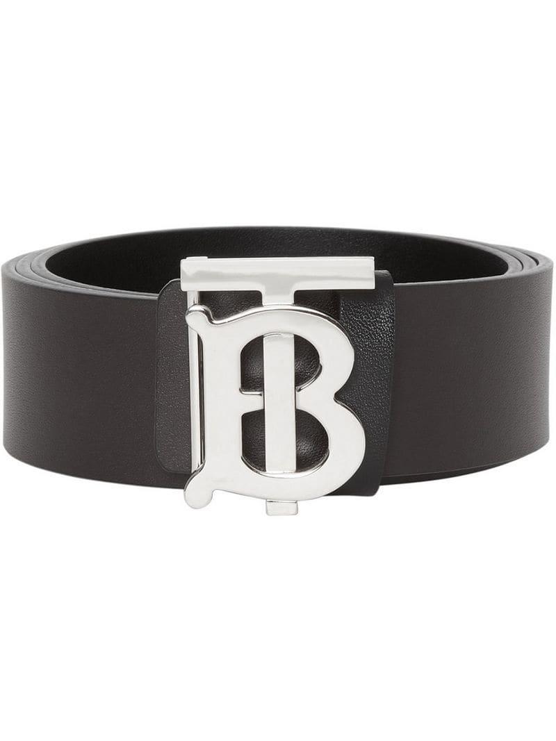 0525fb001 Cinturón reversible con monograma Burberry de hombre de color Negro ...