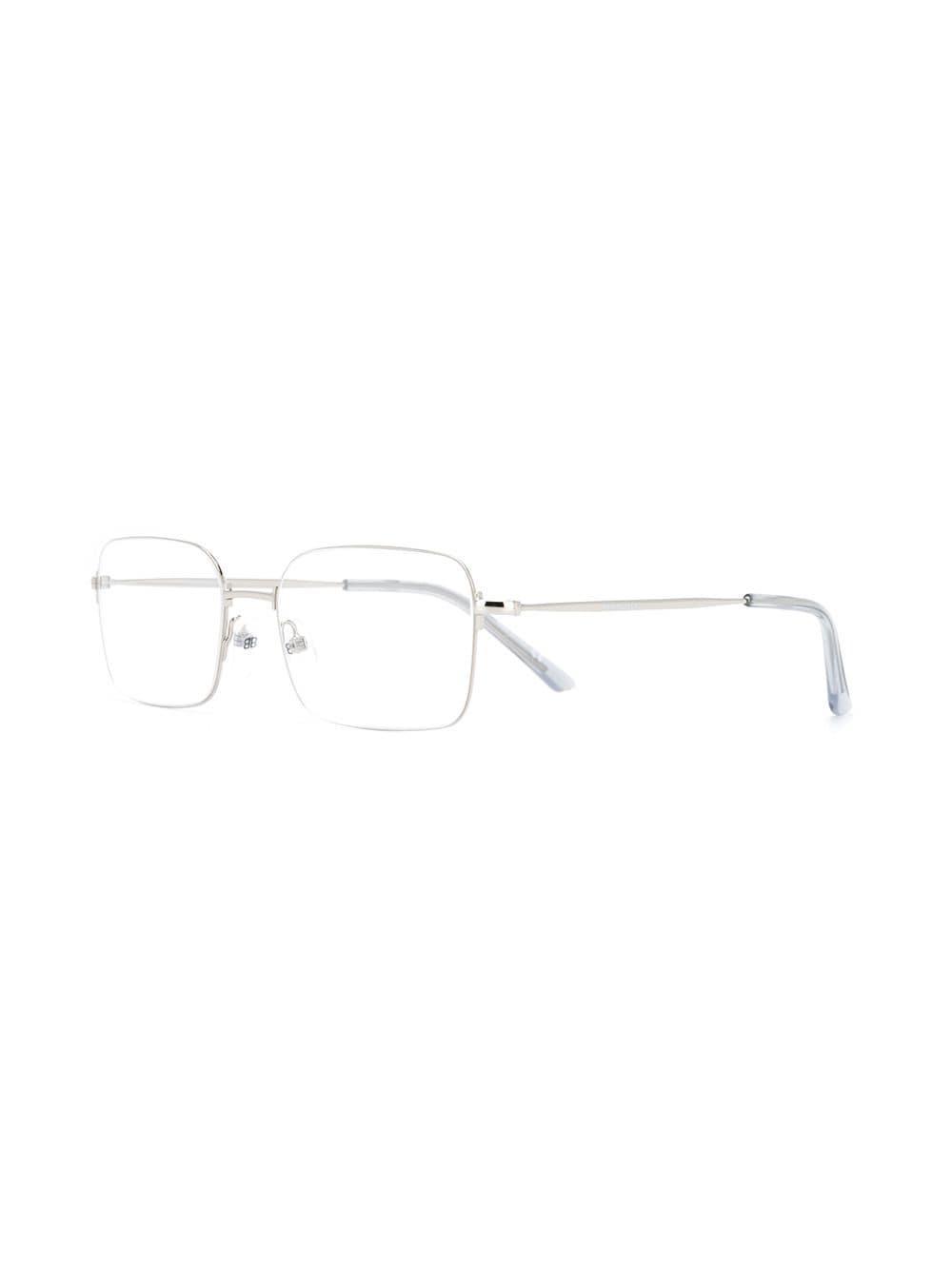 7df28ef7671 Balenciaga - Metallic Square-frame Glasses for Men - Lyst. View fullscreen