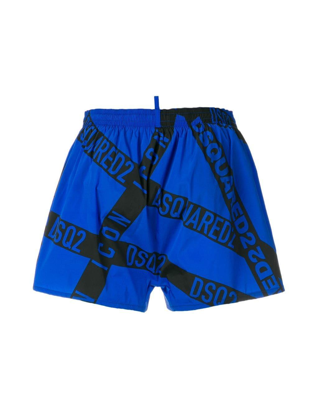 0397862f9d Lyst - Dsquared² Branded Swim Shorts in Blue for Men