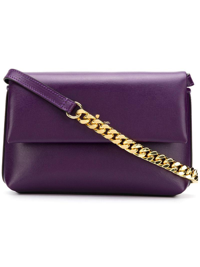 036a888459c5 Lyst - Philippe Model Foldover Top Shoulder Bag in Purple