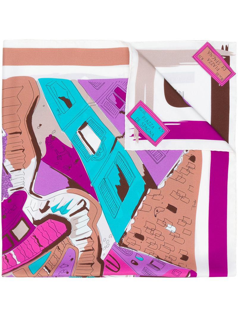 Bufanda Shanghai-print - Multicolor Emilio Pucci 62qRwK