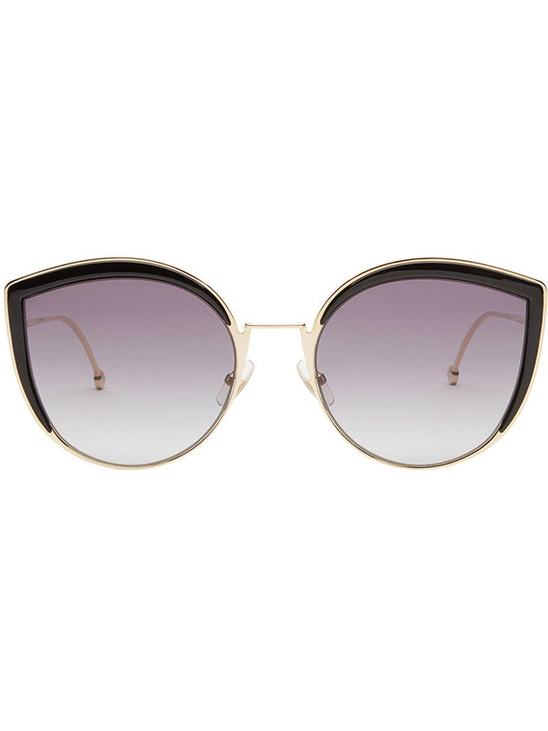 4107d52496c Fendi F Is Fendi Sunglasses in Metallic - Lyst