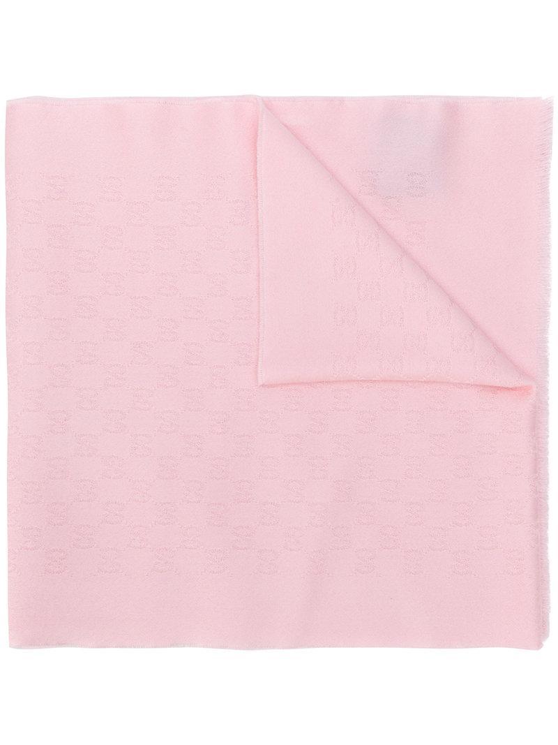 Lyst - Gucci Gg Jacquard Shawl in Pink 0aa000c72c82