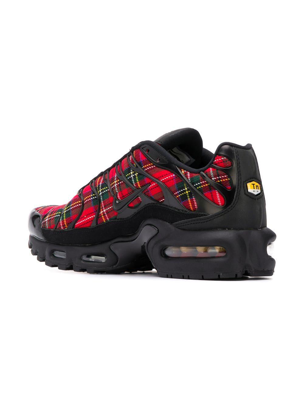0f926d143e Nike Air Max Plus Tartan Sneakers in Red - Lyst