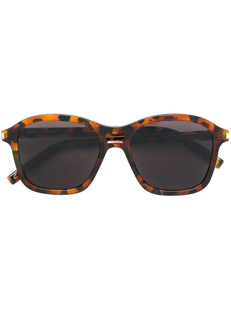 973cc4978ab Saint Laurent - Brown Tortoiseshell Sunglasses for Men - Lyst. View  fullscreen
