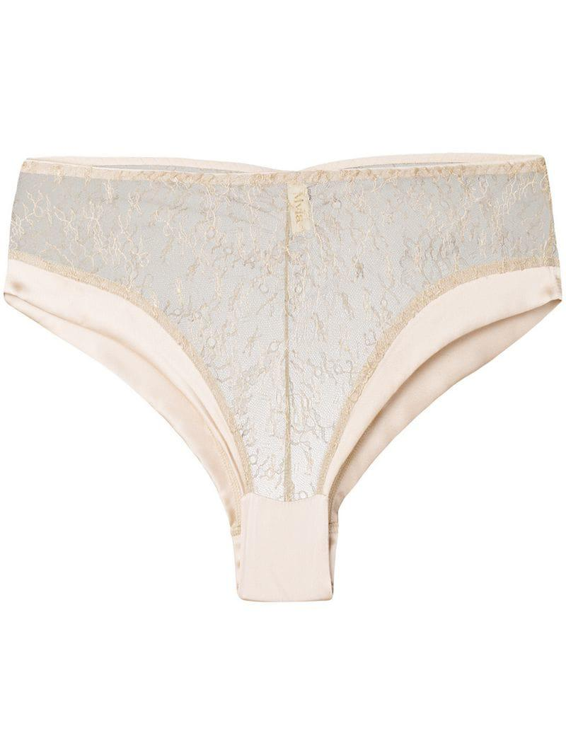 9ecb94cb2bc5 Lyst - Myla Lace Short Brief in Natural