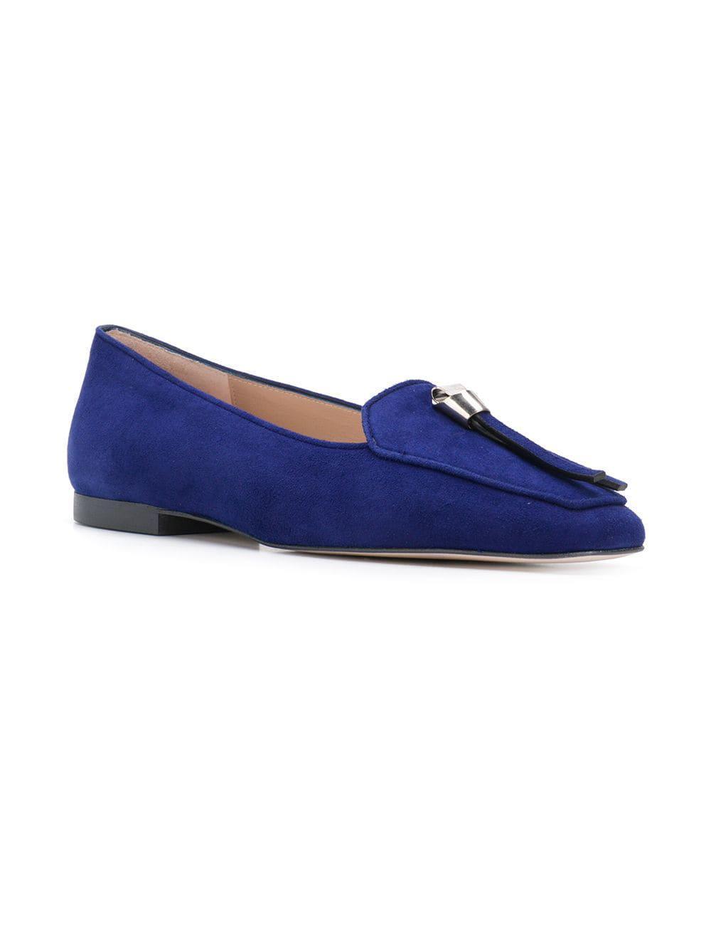 d91951f8261 Stuart Weitzman - Blue Low Heel Loafers - Lyst. View fullscreen
