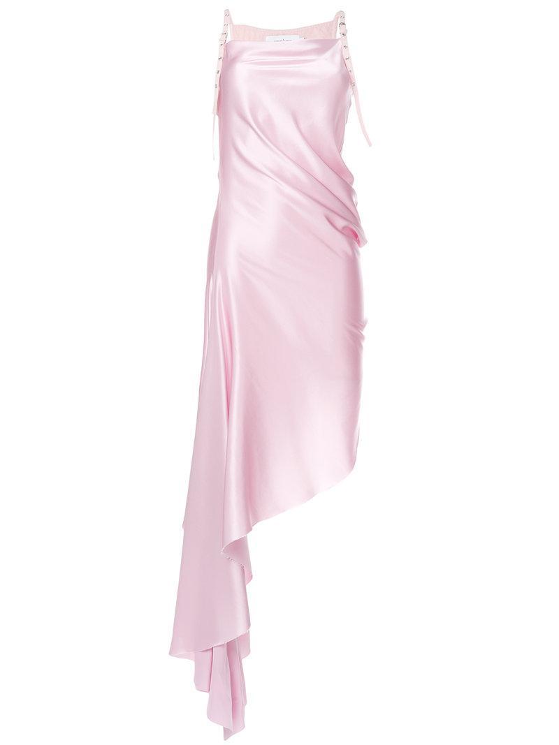 fbac110de33855 Lyst - Marques Almeida Buckle Strap Asymmetric Dress in Pink