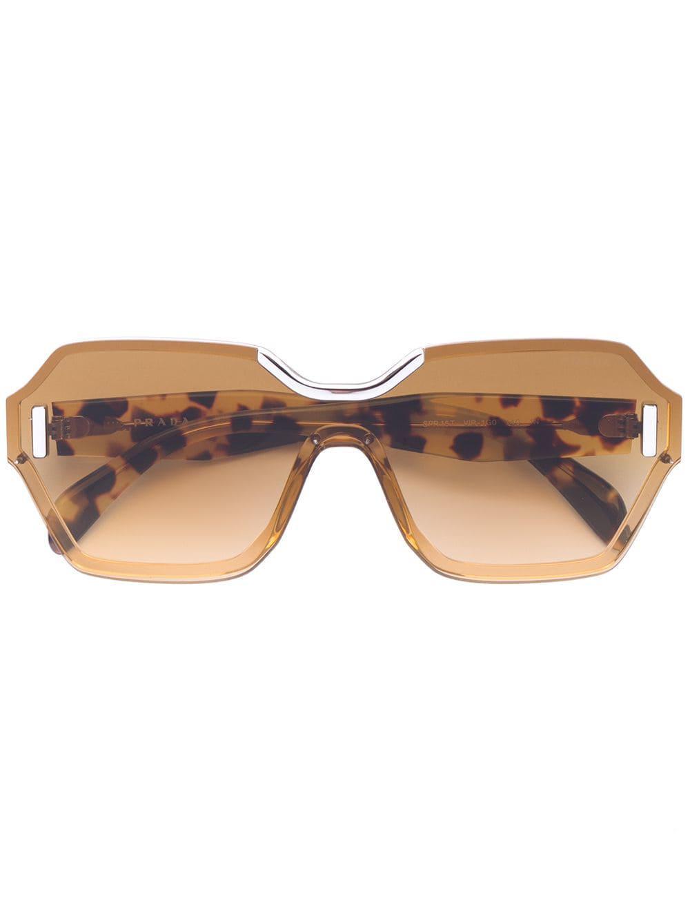 fcb19428a029 Prada Square Frame Sunglasses - Lyst